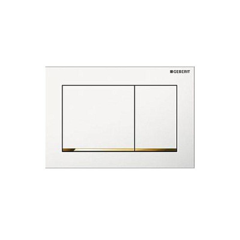 Πλακέτα GEBERIT OMEGA 30 Λευκό-Χρυσό-Λευκό