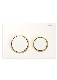 Πλακέτα GEBERIT OMEGA 20 Λευκό-Χρυσό-Λευκό