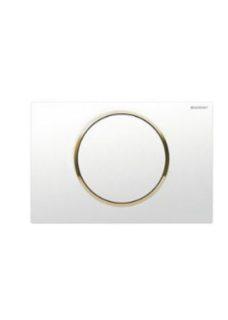 Πλακέτα GEBERIT SIGMA 10 Άσπρο-Χρυσό-Άσπρο