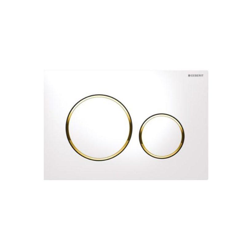 Πλακέτα GEBERIT SIGMA 20 Άσπρο-Χρυσό-Άσπρο