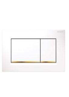 Πλακέτα Ενεργοποίησης GEBERIT SIGMA 30 DUAL FLUSH Λευκό-Χρυσό-Λευκό