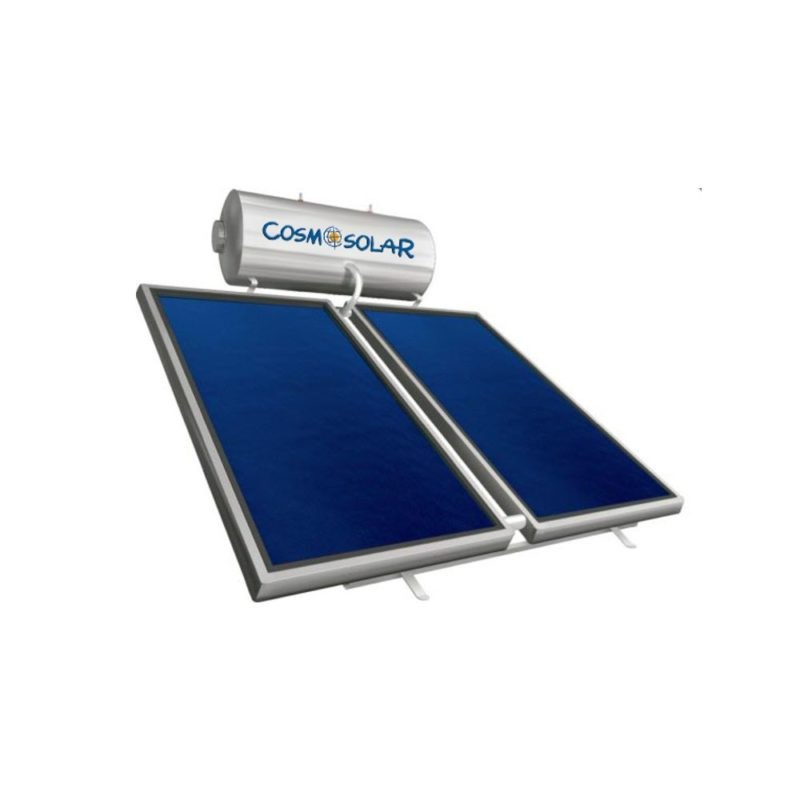 Cosmosolar Glass EGL 120lt/1.8m² ΚΑΘ. Διπλ.Ενέργ.