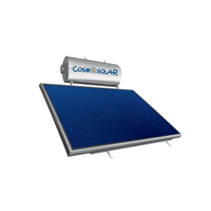 Cosmosolar Glass EGL 160lt/3.06m² ΟΡΙΖ. Διπλ.Ενέργ.