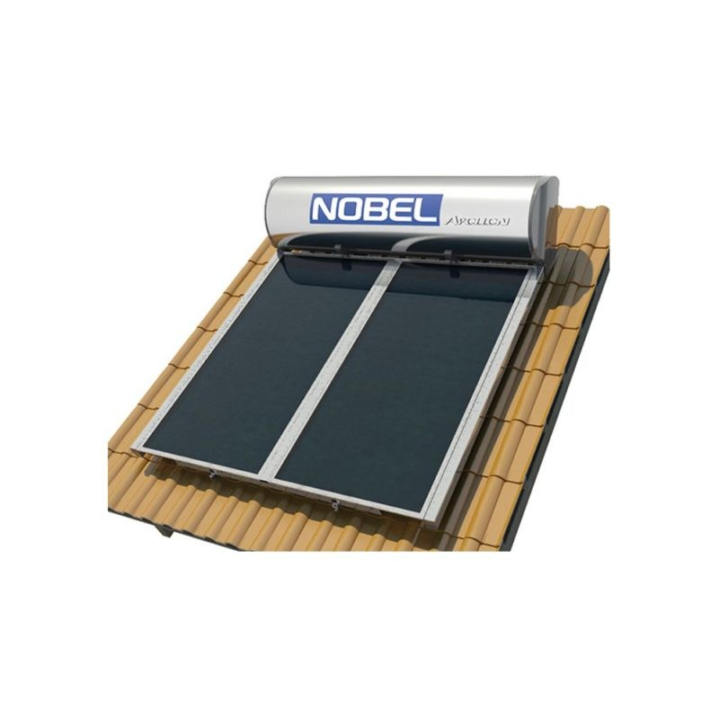 NOBEL Apollon Glass 160lt/2.0m² Τριπλής Ενέργειας Κεραμοσκεπή