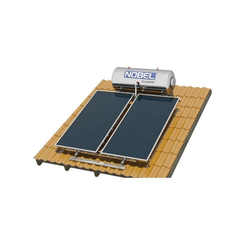 NOBEL Classic Glass 200lt/3.0m² Τριπ. Ενέργειας με Αντ. Θερμότητας Κεραμοσκεπή