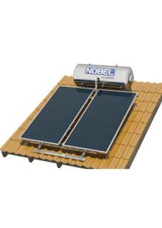NOBEL Classic Glass 120lt/2.0m²Διπλής Ενέργειας Κεραμοσκεπή