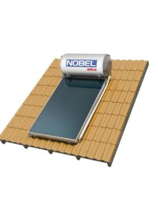 NOBEL Aelios CUS GLASS 120lt/2.0m² Διπλής Ενέργειας Κεραμοσκεπή