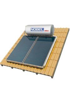 NOBEL Aelios CUS Glass 200lt/3.0m² Τριπλής Ενέργειας Κεραμοσκεπή