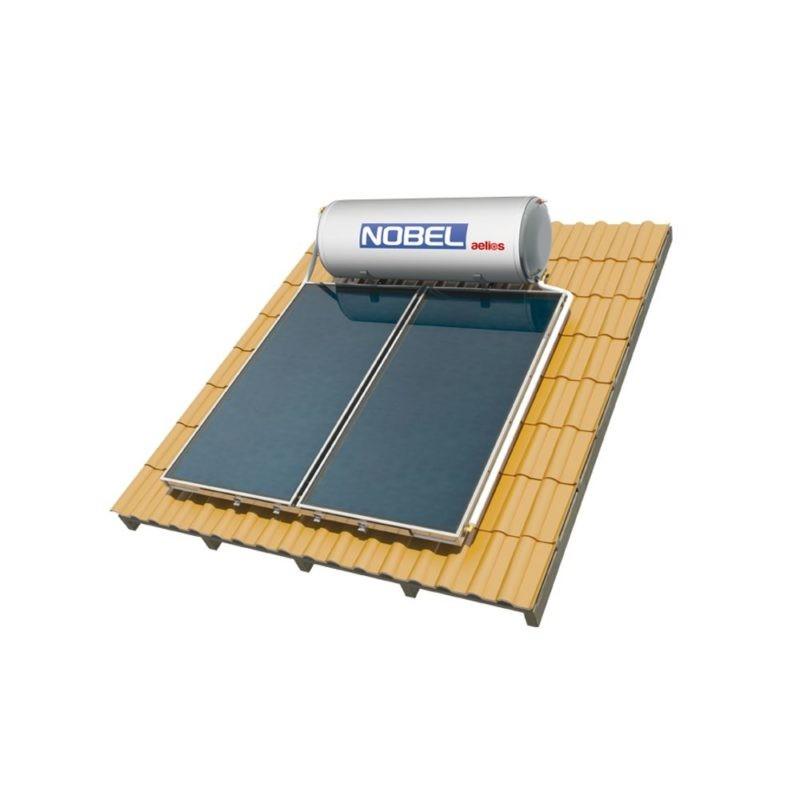 NOBEL Aelios CUS GLASS 160lt/2.0m² Διπλής Ενέργειας Κεραμοσκεπή