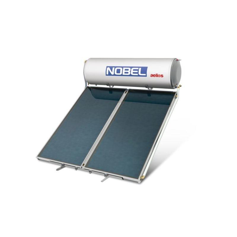 NOBEL Aelios CUS GLASS 160lt/2.6m² Διπλής Ενέργειας Ταράτσα