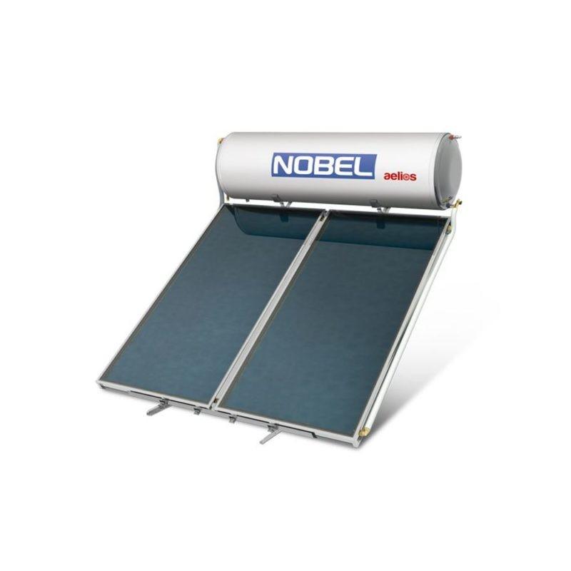 NOBEL Aelios ALS Glass 200lt/2.6m² Διπλής Ενέργειας Ταράτσα