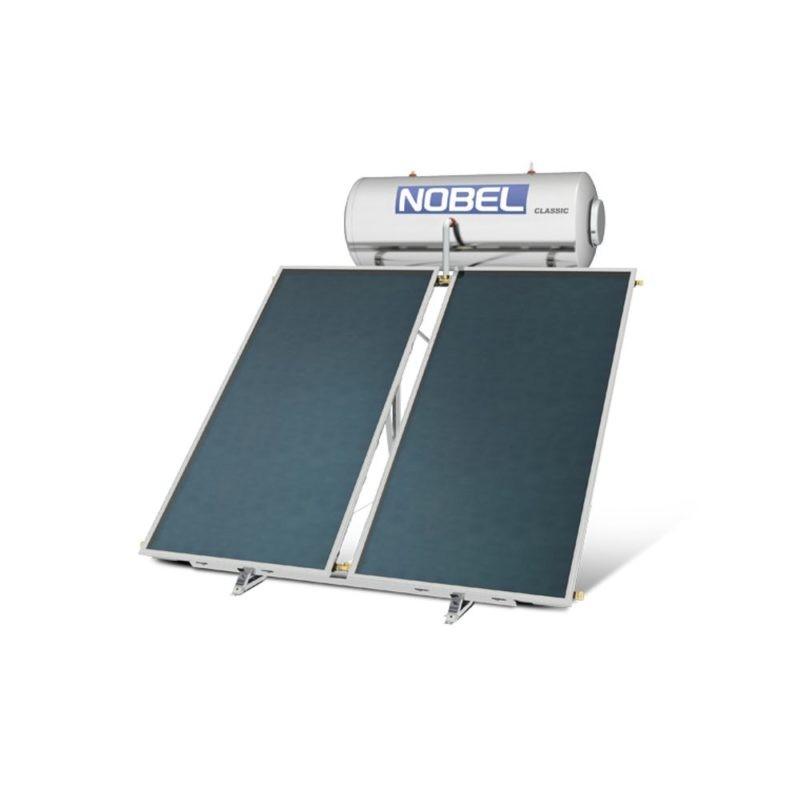 NOBEL Classic Glass 300lt/5.2m² Τριπλής Ενέργειας με Αντ. Θερμ. Ταράτσα